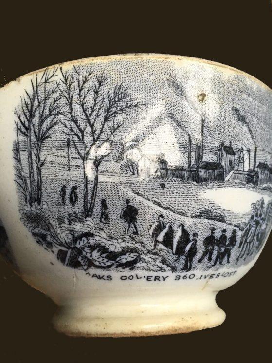 Oaks Commemorative Sugar Bowl 'Oaks Colliery 360 Lives Lost'