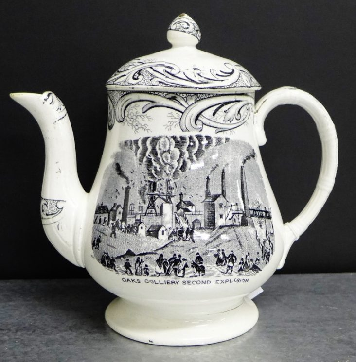 Oaks Commemorative Tea/Coffee Pot 'Oaks Colliery Second Explosion'